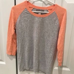 🌼2 FOR 10🌼Banana Republic Coral and Grey Top
